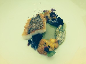 Black Bass with Crispy Cauliflower